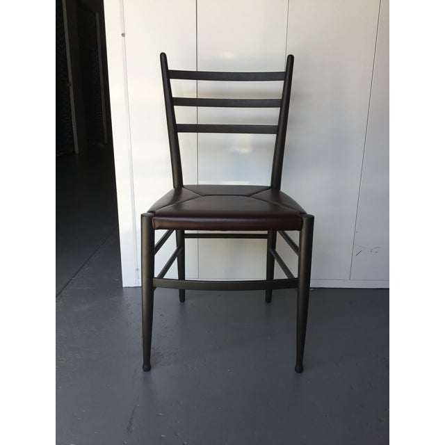 Modern Mid-Century Italian Dining Side Chairs - Set of 4 For Sale - Image 3 of 11
