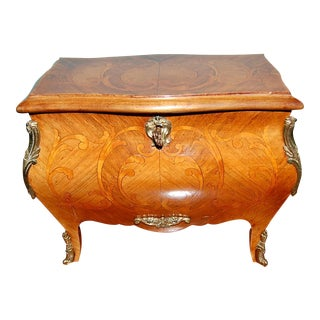 Rare French Kingwood Inlaid Jewelry Box