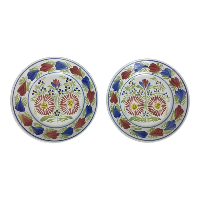 Late 20th Century Quimper Plates - A Pair For Sale