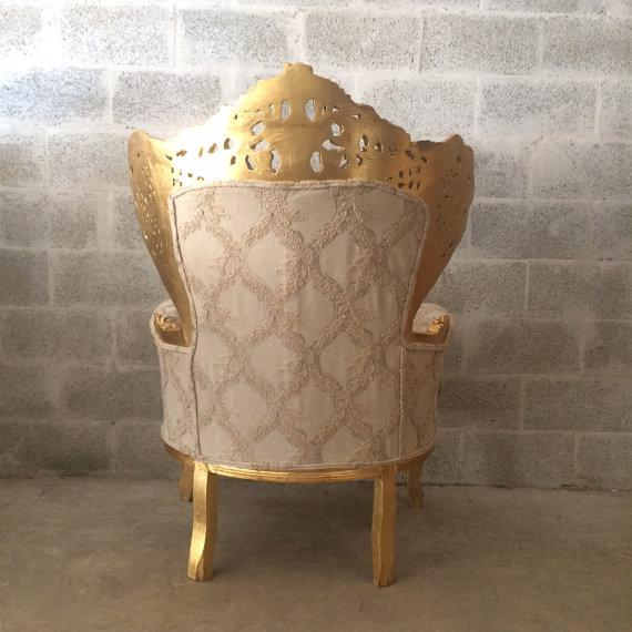 Antique Italian Rococo Style Chair For Sale - Image 5 of 6