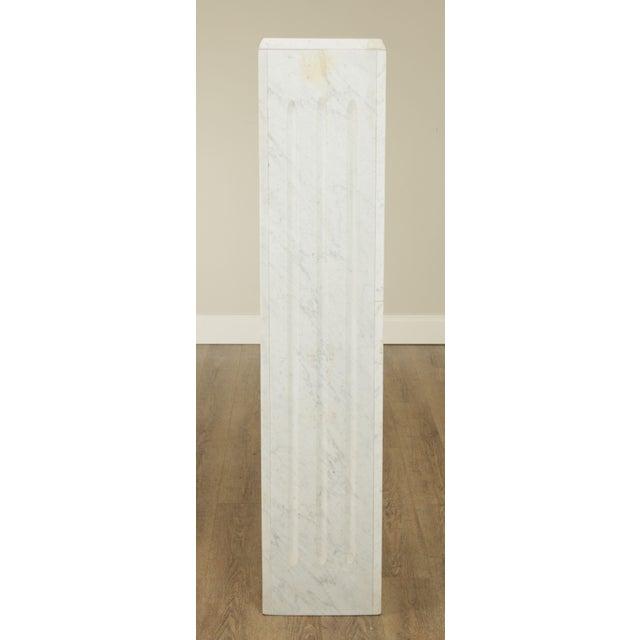 "1960s Italian Carrara Marble 56"" Column Pedestal For Sale - Image 5 of 13"