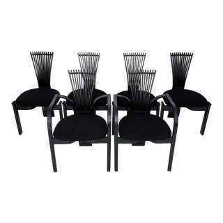 Torstein Nilsen for Westnofa of Norway Minimalist Modern Totem Dining Chairs - Set of 6 For Sale