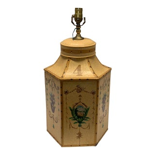 """1960s Vintage Chinese English Tea Caddy Lamp """"4"""" For Sale"""