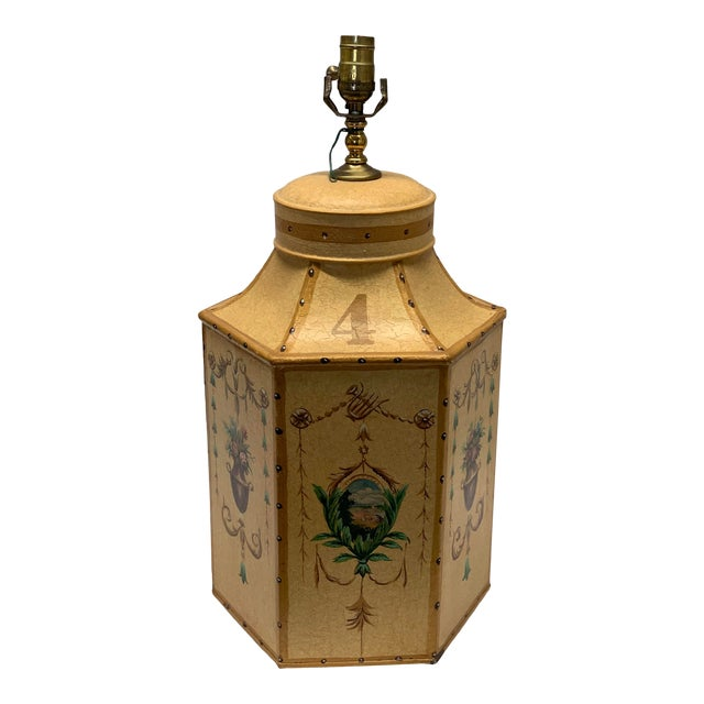 "1960s Vintage Chinese English Tea Caddy Lamp ""4"" For Sale"