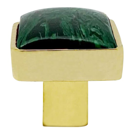 Addison Weeks Horne Small, Brass & Malachite For Sale