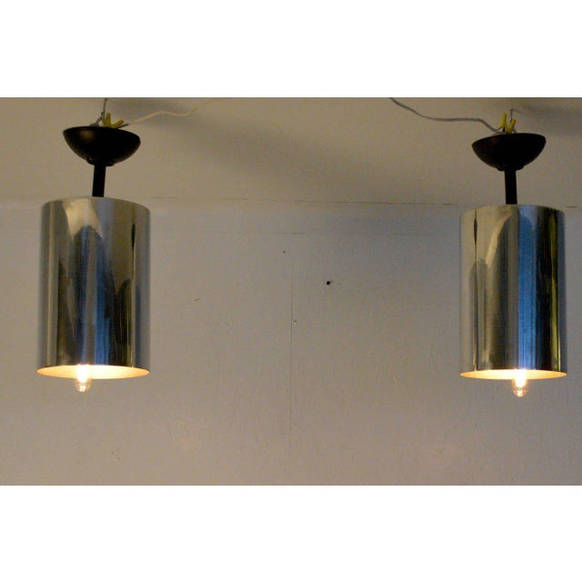 Set of 6 Aluminum Hanging Lamps For Sale In San Diego - Image 6 of 6