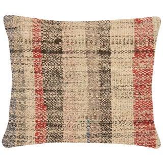 "Nalbandian - 1960s Turkish Hemp Pillow - 16"" X 19"" For Sale"