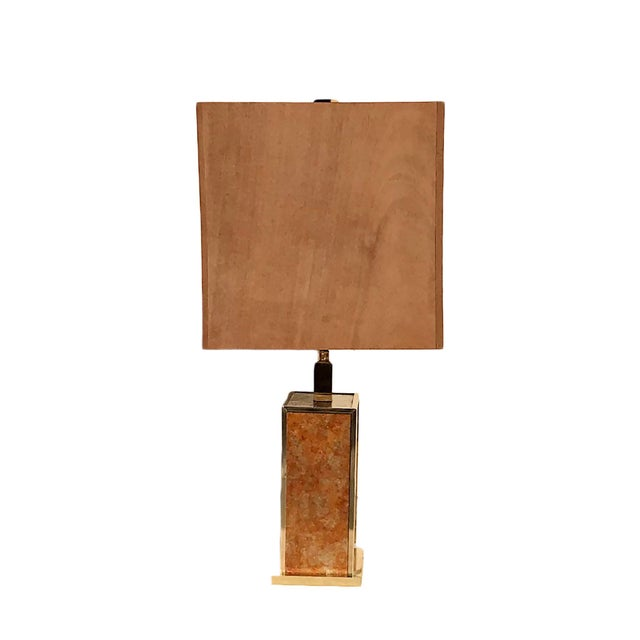 Metal Mica Glam Table Lamp For Sale - Image 7 of 7