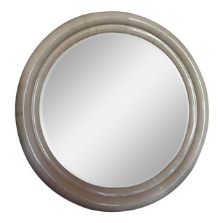 Vintage Karl Springer Goatskin Mirror For Sale