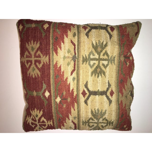 1990s Vintage Kilim Pillows - A Pair For Sale - Image 5 of 7