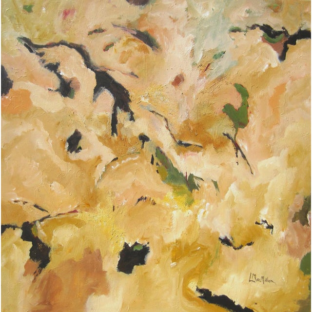 The artist painted Taking Flight as a nonobjective abstract, but some people see a crow and a rooster, among other birds!...
