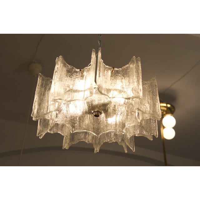 Glass chandelier by JT Kalmar For Sale - Image 10 of 11
