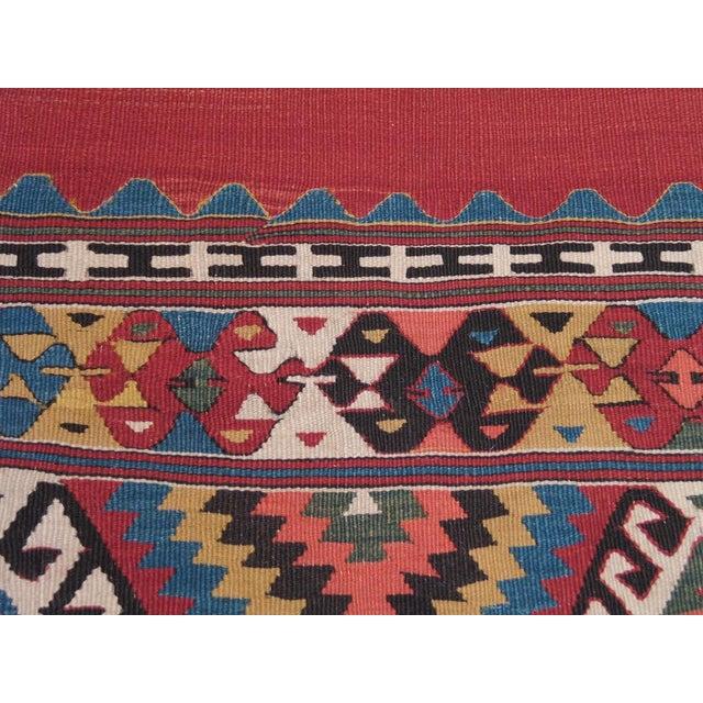 Mid 19th Century Antique Fethiye Kilim For Sale - Image 5 of 8