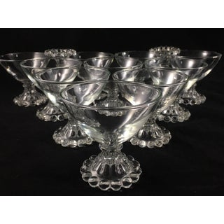 Vintage Anchor Hocking Clear Glass Champagne Boopies - Set of 12 Preview