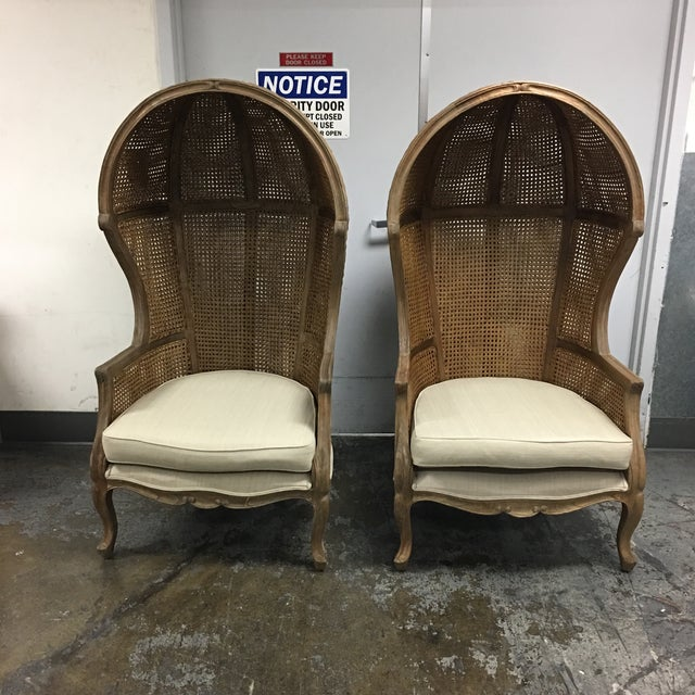 Canopy Caned Back Chairs - A Pair - Image 2 of 7