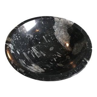 Orthoceras Fossil Stone Bowl