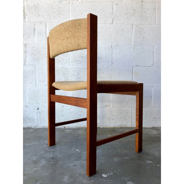 Vintage Mid Century Danish Modern Style Dining Chairs (Set of Four) For Sale - Image 9 of 13