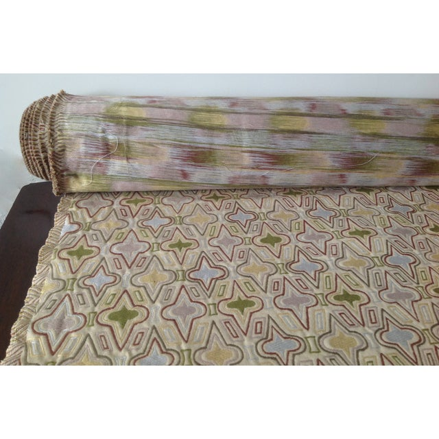 """Shabby Chic C.1990's Donghia """"Casino"""" Textile Fabric - 3.5 Yards For Sale - Image 3 of 5"""