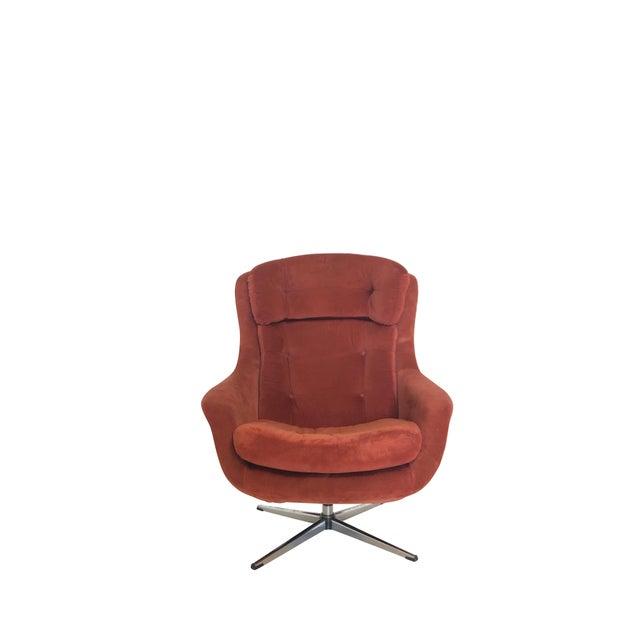 Orange Mid Century Modern Overman Egg Chair For Sale - Image 8 of 8