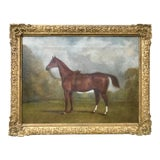 Image of Antique Portrait of a English Ladies Horse by Edward Lloyd 1870 For Sale