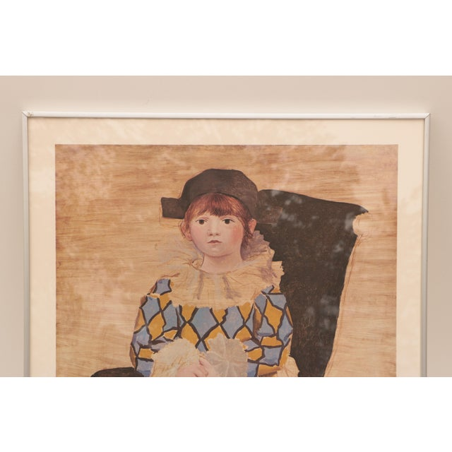 """Pablo Picasso Pablo Picasso - """"Paul as Harlequin"""" Framed Lithograph Print For Sale - Image 4 of 8"""