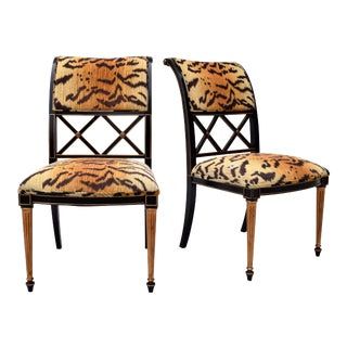 Henredon Regency Style Side Chairs in the Manner of Dorothy Draper For Sale