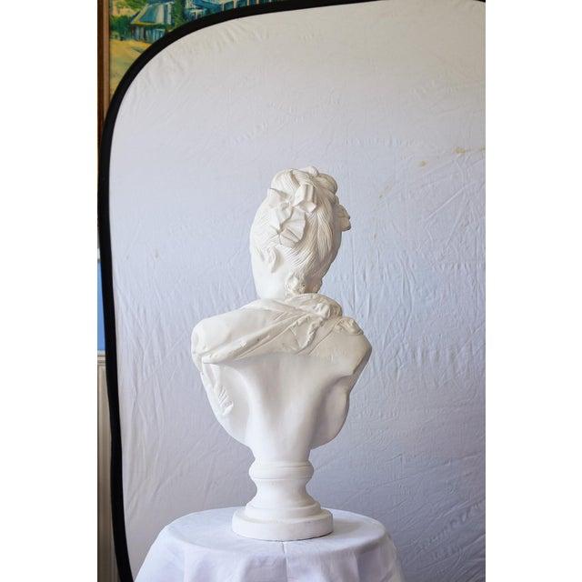 Mid 20th Century Elegant Hollywood Regency Large Plaster Bust For Sale - Image 5 of 13