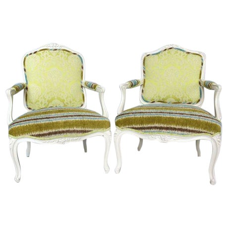 19th French Bergere Chairs - Pair - Image 1 of 6