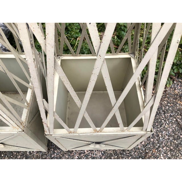 Traditional 1980s Vintage Obelisks Planters- A Pair For Sale - Image 3 of 9