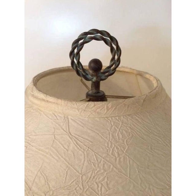 Black Lacquer Carved Wood Floor Lamp For Sale In Los Angeles - Image 6 of 8