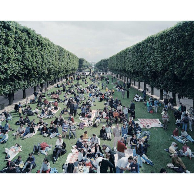 """26 Picnic Allee from """"A Portfolio of Landscapes with Figures"""" color photography print by Massimo Vitali - Image 3 of 3"""