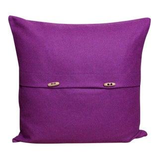 FirmaMenta Italian Eco-Friendly Purple Wool Pillow For Sale