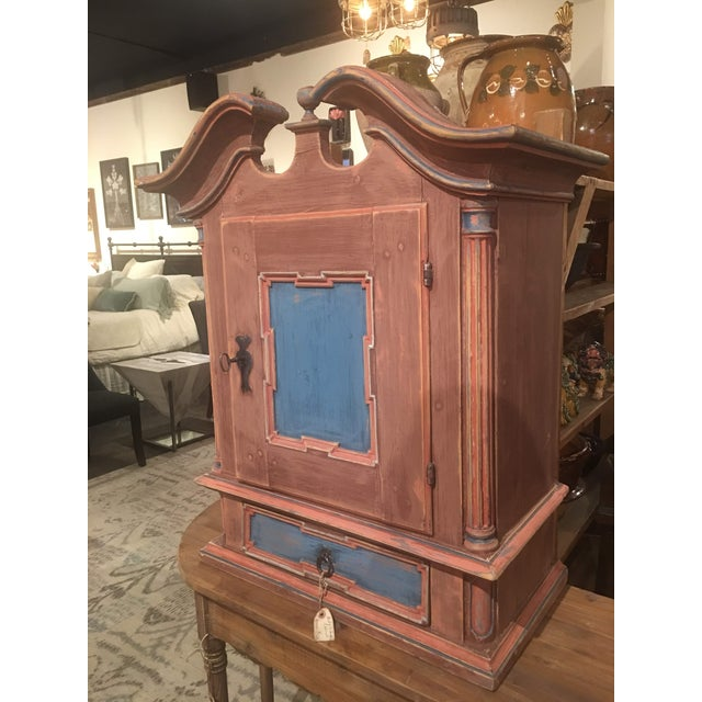 French 19th Century Antique Swedish Wall Cabinet For Sale - Image 3 of 13