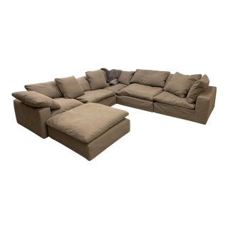 Restoration Hardware Cloud Collection Modular Sofa and Ottoman For Sale