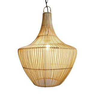 Jeanie Raw Rattan Lantern For Sale