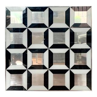 Mid-Century Modern Op Art Wall Mirror For Sale