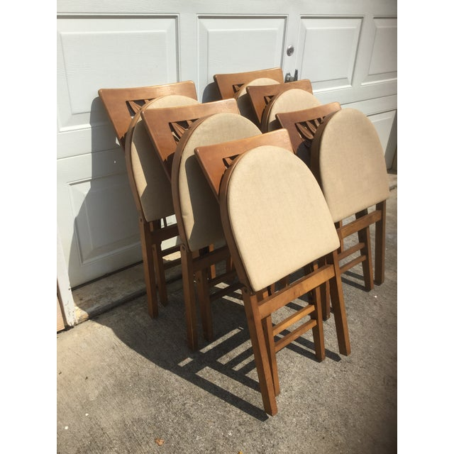 1930s Vintage Carved Art Deco Chairs - Set of 6 For Sale - Image 5 of 11