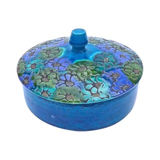 Mid-Century Modern Bitossi Lidded Floral Dish For Sale
