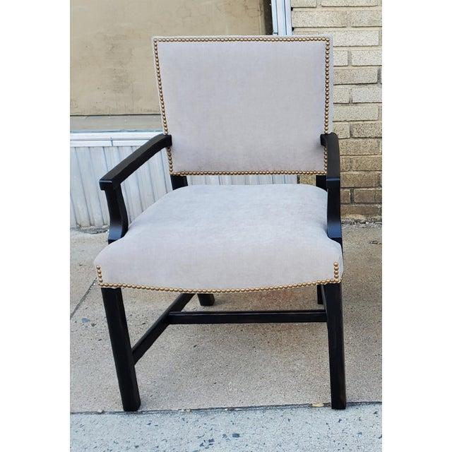 Henredon Henredon Furniture Mark D. Sikes Sheffield Upholstered Arm Chair For Sale - Image 4 of 11