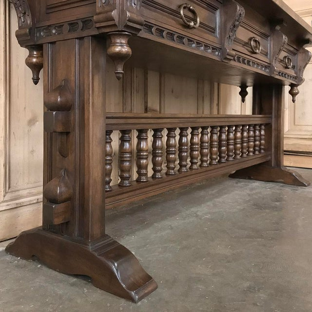 Antique Spanish Renaissance Walnut Hall Table ~ Console For Sale - Image 11 of 12
