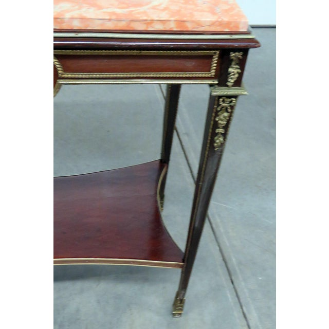 Hollywood Regency Regency Style Marble Top Desk Attr Forest For Sale - Image 3 of 6