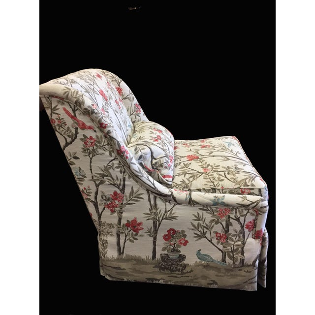 Absolutely comfortable Pearson chair in showroom condition with a high quality fabric. And look at the upholstery job!...