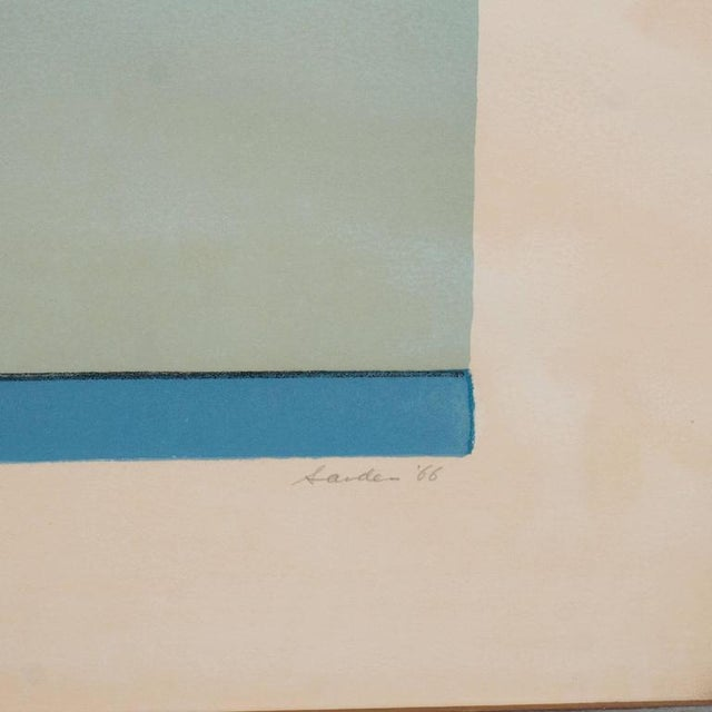 Ludwig Sander American Ludwig Sander Geometric Color Field Lithograph For Sale - Image 4 of 10
