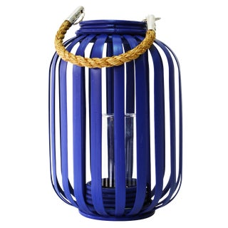 Selamat Designs Moana Lantern in Navy For Sale