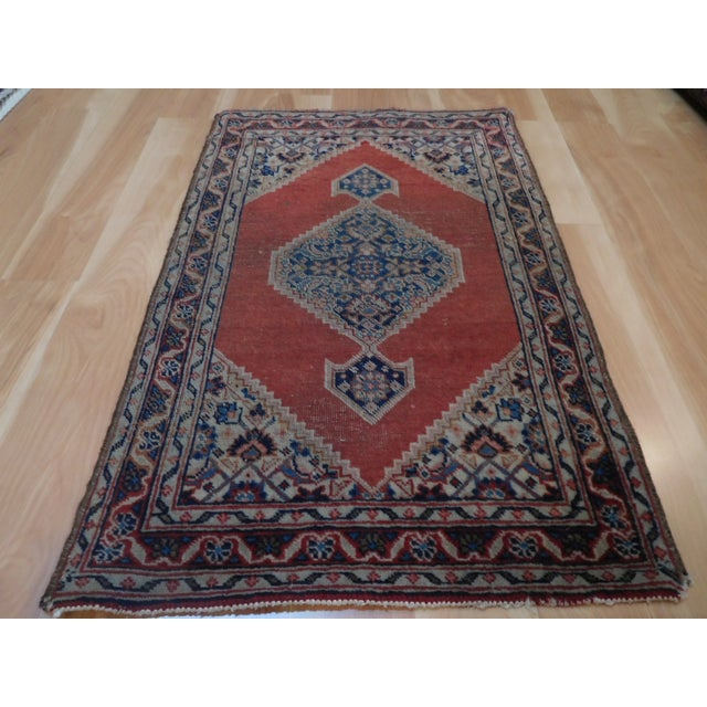 Antique Persian Tabriz Rug - 1′8″ × 2′8″ For Sale - Image 4 of 5