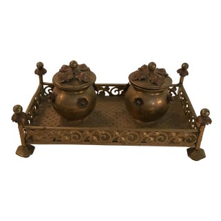 Bronze French Inkwell For Sale