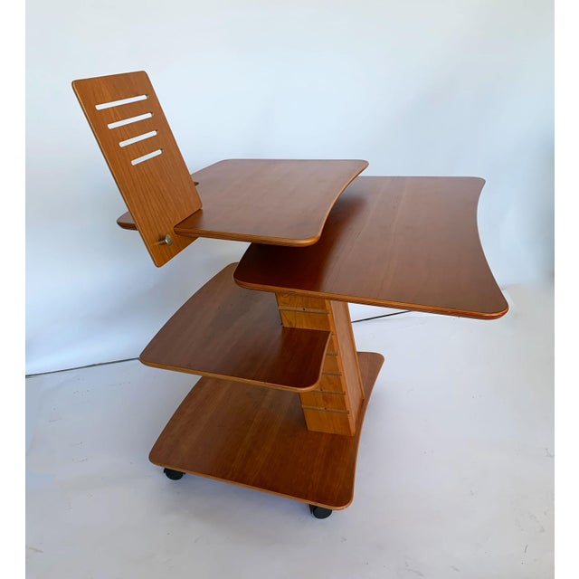 Aksel Kjesgaard of Denmark Teak Mid-Century Adjustable Desk on Casters For Sale - Image 12 of 12