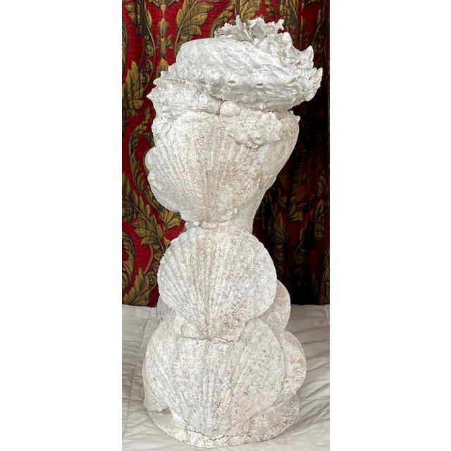 "1990s ""Sea Queen"" Woman Bust Sea Shell Sculpture For Sale - Image 4 of 11"