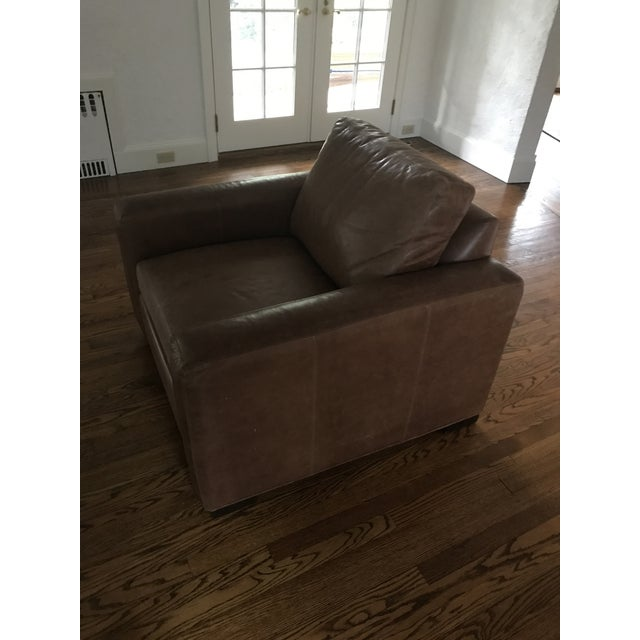 Ethan Allen Distressed Leather Hudson Club Chair - Image 2 of 7