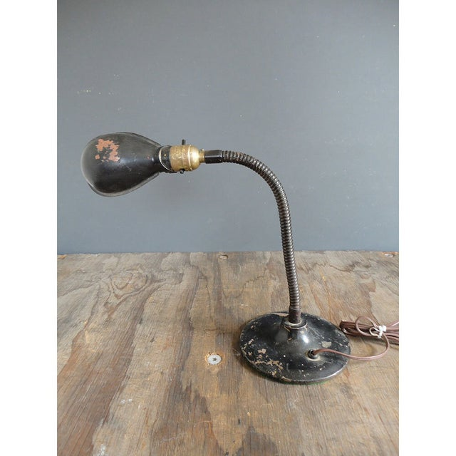 1940s Industrial Flip Up Shade Desk Lamp - Image 5 of 7